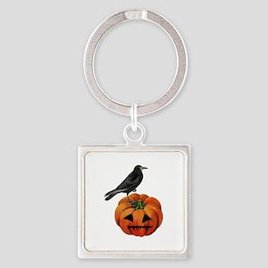 vintage halloween crow pump Keychains