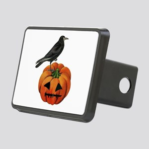 vintage halloween crow pum Rectangular Hitch Cover