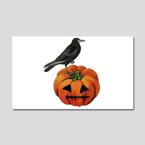 vintage halloween crow pumpkin Car Magnet 20 x 12