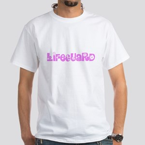 Lifeguard Pink Flower Design T-Shirt