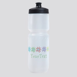 Personalize Flowers Sports Bottle