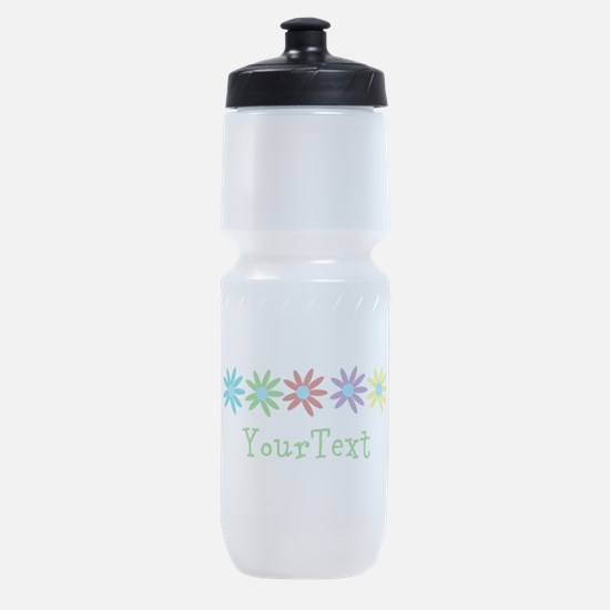 Personalize Flowers Sports Bottle