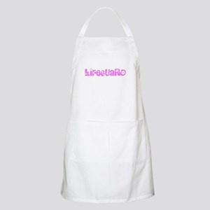 Lifeguard Pink Flower Design Light Apron