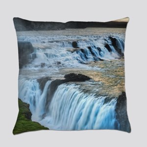 GULLFOSS WATERFALLS 2 Everyday Pillow