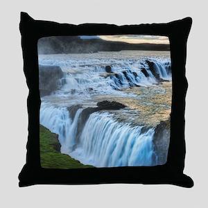 GULLFOSS WATERFALLS 2 Throw Pillow