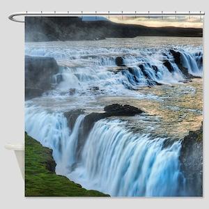 GULLFOSS WATERFALLS 2 Shower Curtain