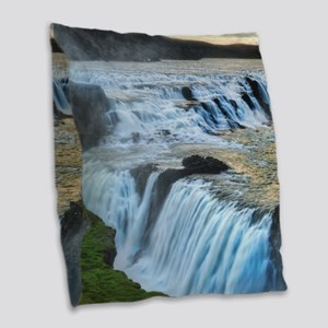 GULLFOSS WATERFALLS 2 Burlap Throw Pillow