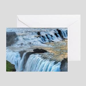 GULLFOSS WATERFALLS 2 Greeting Card
