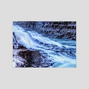 GULLFOSS WATERFALLS 1 5'x7'Area Rug