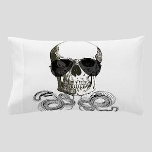 rock n roll skeleton skull Pillow Case