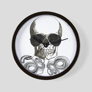 rock n roll skeleton skull Wall Clock