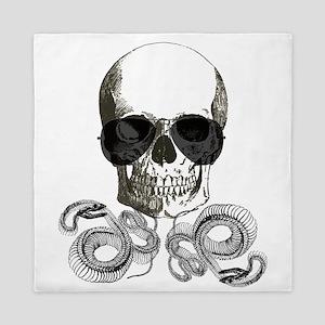 rock n roll skeleton skull Queen Duvet