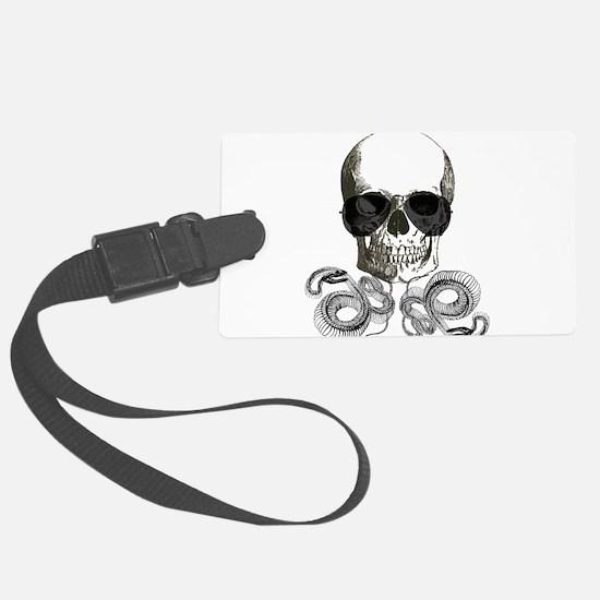 rock n roll skeleton skull Luggage Tag