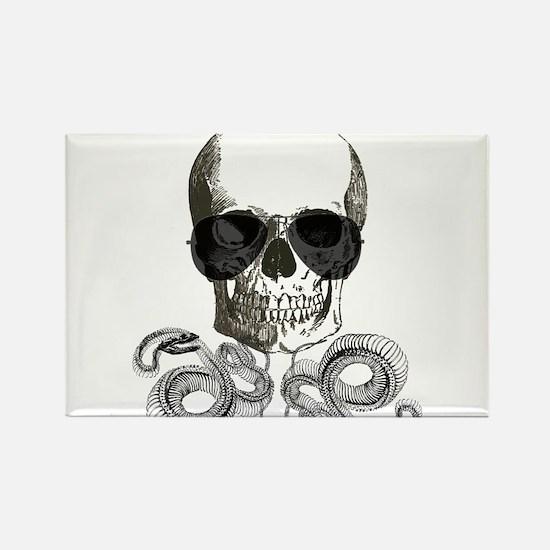 rock n roll skeleton skull Magnets