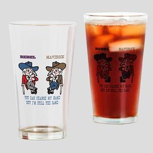 Rebels to Mavericks Drinking Glass