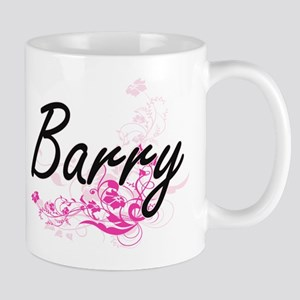 Barry surname artistic design with Flowers Mugs