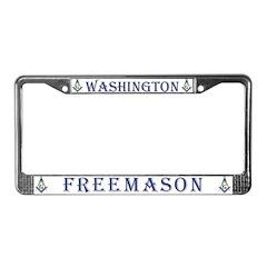 State of Washington Free Mason License Plate Fram