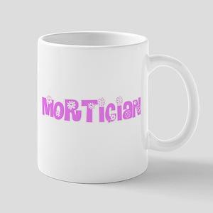 Mortician Pink Flower Design Mugs