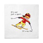 Skiing Queen Duvet