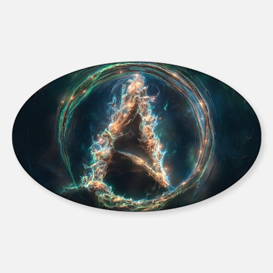 Cute Cool atheist Sticker (Oval)