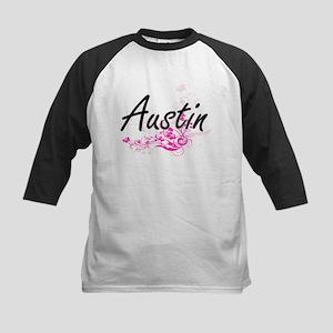 Austin surname artistic design wit Baseball Jersey
