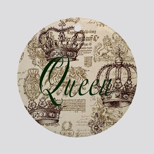 Queen Round Ornament