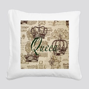 Queen Square Canvas Pillow