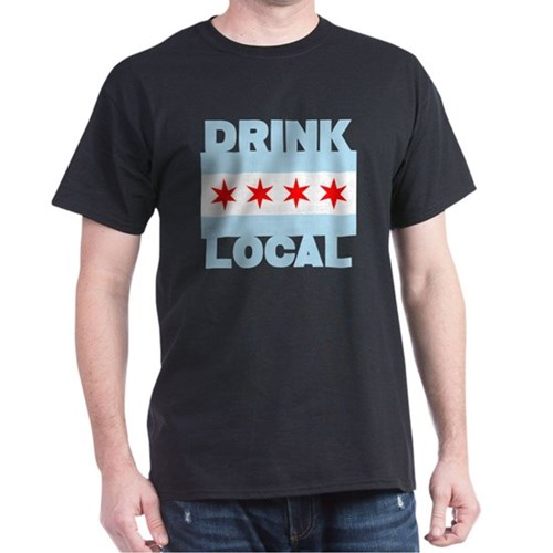 Drink Local Beer Chicago Flag Mens Shirt T-Shirt