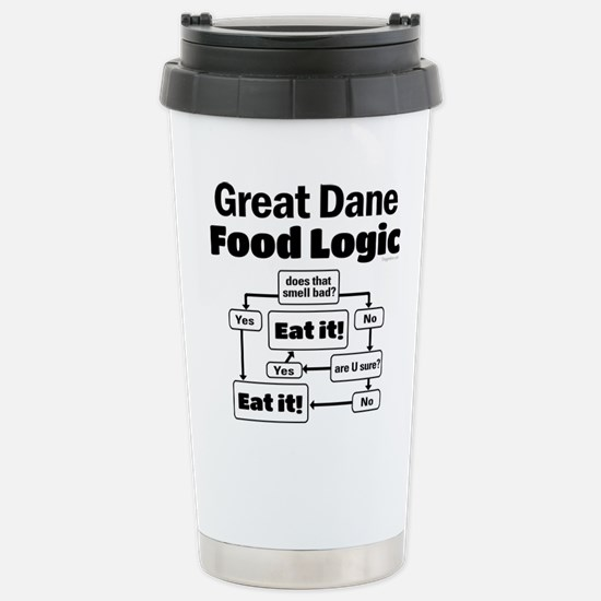 Great Dane Food Stainless Steel Travel Mug
