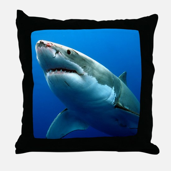 GREAT WHITE SHARK 3 Throw Pillow