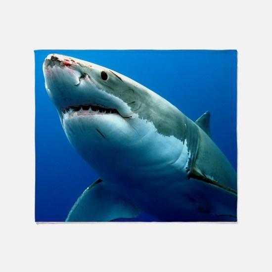 GREAT WHITE SHARK 3 Throw Blanket