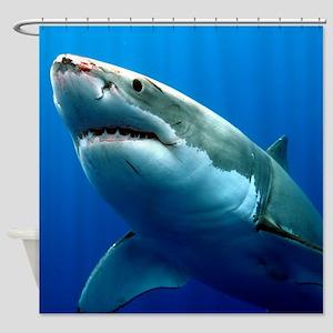 GREAT WHITE SHARK 3 Shower Curtain
