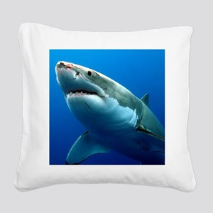 GREAT WHITE SHARK 3 Square Canvas Pillow