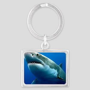 GREAT WHITE SHARK 3 Landscape Keychain