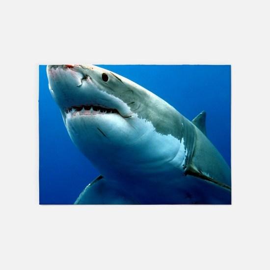 GREAT WHITE SHARK 3 5'x7'Area Rug