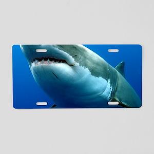 GREAT WHITE SHARK 3 Aluminum License Plate