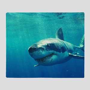 GREAT WHITE SHARK 1 Throw Blanket