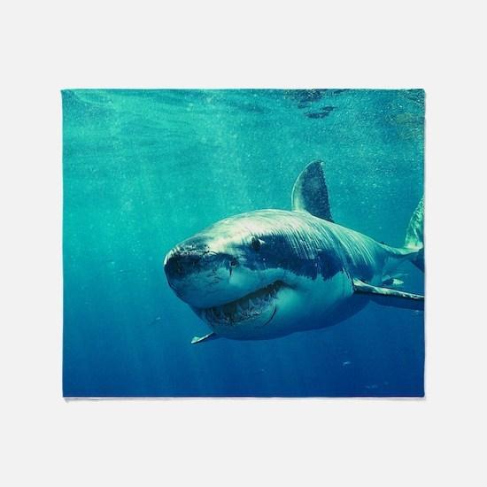 GREAT WHITE SHARK 1 Throw Blanket