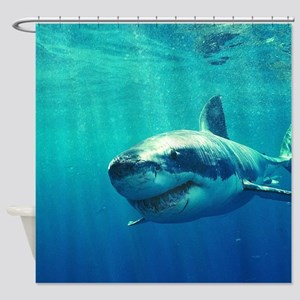 GREAT WHITE SHARK 1 Shower Curtain