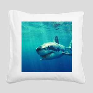 GREAT WHITE SHARK 1 Square Canvas Pillow