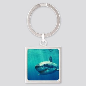 GREAT WHITE SHARK 1 Square Keychain