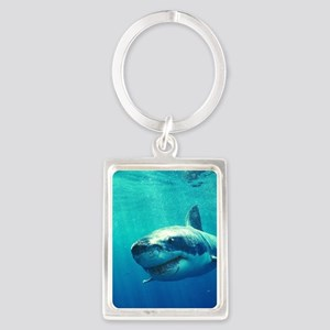 GREAT WHITE SHARK 1 Portrait Keychain
