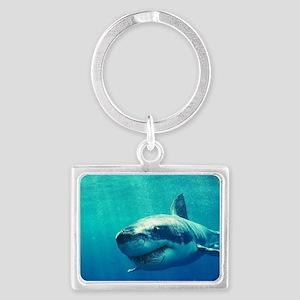 GREAT WHITE SHARK 1 Landscape Keychain
