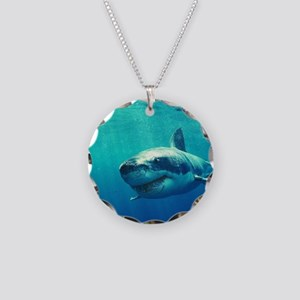 GREAT WHITE SHARK 1 Necklace Circle Charm
