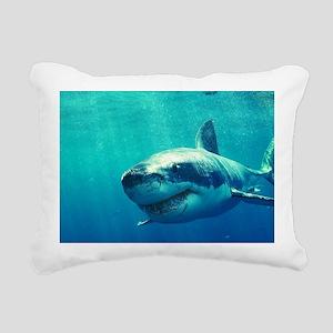 GREAT WHITE SHARK 1 Rectangular Canvas Pillow