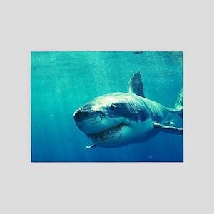 GREAT WHITE SHARK 1 5'x7'Area Rug