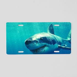 GREAT WHITE SHARK 1 Aluminum License Plate