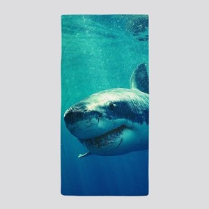 GREAT WHITE SHARK 1 Beach Towel