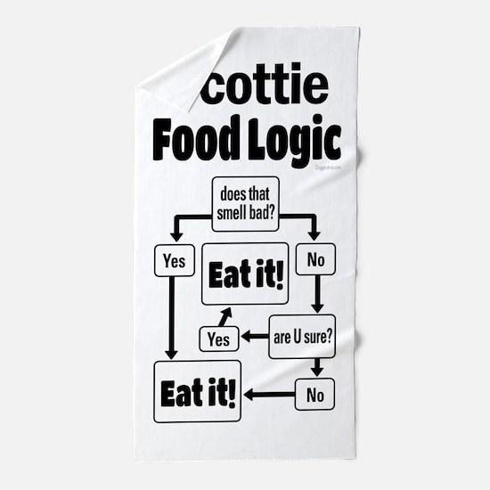Scottie Food Beach Towel