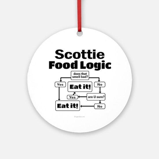 Scottie Food Round Ornament